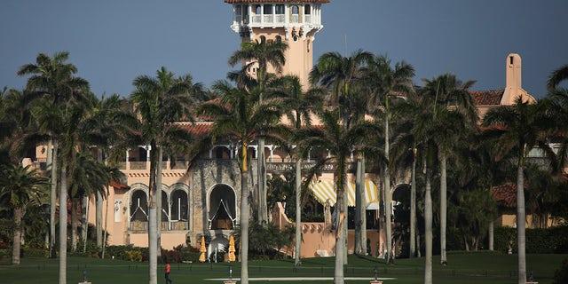 Former U.S. President Trump's Mar-a-Lago resort in Palm Beach, Fla., Feb. 8, 2021. (REUTERS/Marco Bello)