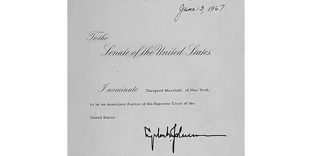 President Lyndon B. Johnson nominated Thurgood Marshall to the Supreme Court in 1967