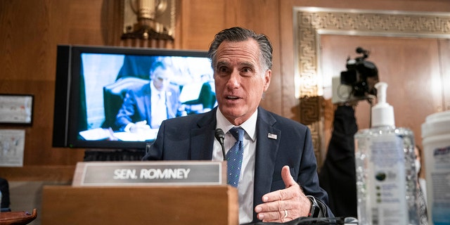 "Sen. Mitt Romney, R-Utah, on Tuesday joined other Republicans who've expressed disapproval of President Biden's $1.9 trillion COVID-19 relief plan, calling the bill a ""clunker."" (Photo by Sarah Silbiger-Pool/Getty Images)"