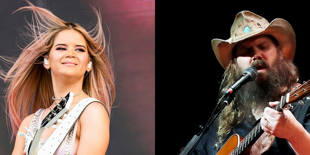 Maren Morris, left, leads ACM nominations with six, as does Chris Stapleto, right.
