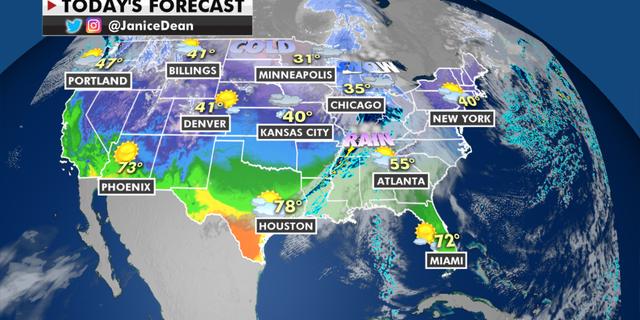 The national forecast for Thursday, Feb. 4 (Fox News)