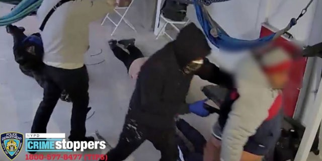 NYPD release video of violent Queens home invasion carried out Friday afternoon.