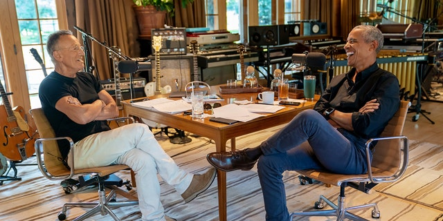 """Bruce Springsteen and President Barack Obama interview each other for their new podcast """"Renegades: Born in the USA."""""""