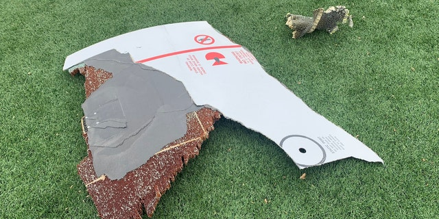 Debris also fell near a dog park and on a turf field in a Broomfield park.