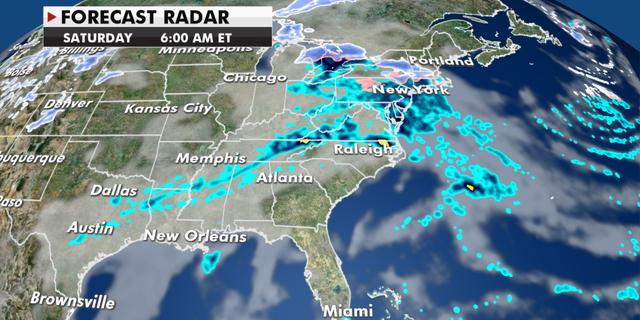 Expected radar conditions Saturday. (Fox News)