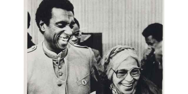 Civil rights activist Kwame Ture, formerly known as Stokely Carmichael, with Rosa Parks
