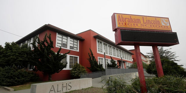 The Abraham Lincoln High School in San Francisco. The city of San Francisco took a dramatic step last week in its effort to get children back into public school classrooms, suing its own school district to try to force open the doors amid the coronavirus pandemic. (AP)