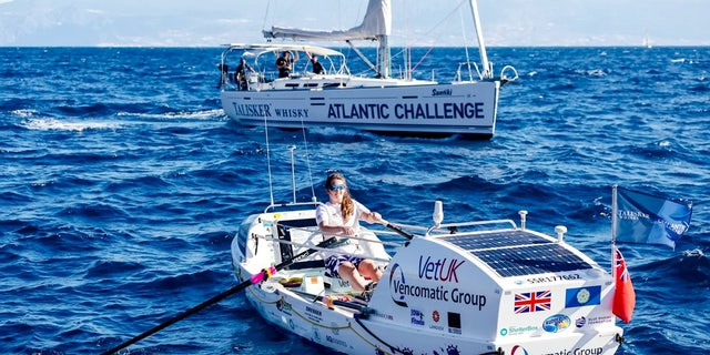 The 21-year-old from Thirsk, North Yorkshire set sail from the Canary Islands on Dec. 12.