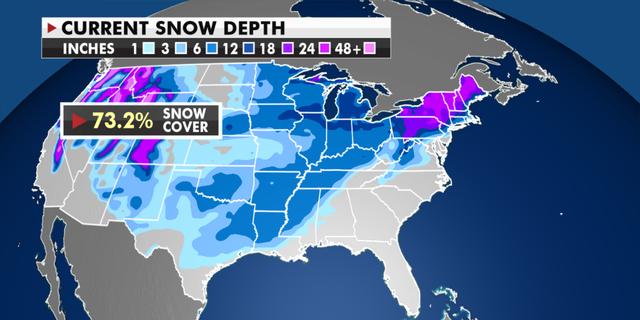 Current snow depth totals. (Fox News)
