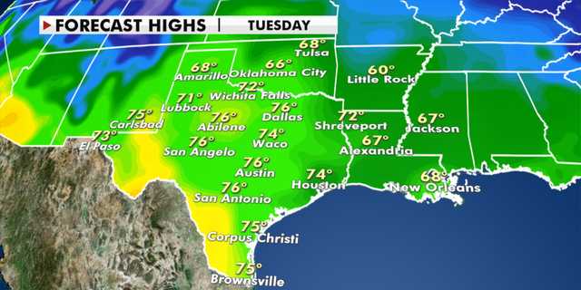 Warmer temperatures are in store for Texas this week. (Fox News)