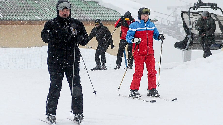 Russia's Putin, Belarus' Lukashenko spark backlash for skiing, snowboarding during mass protests