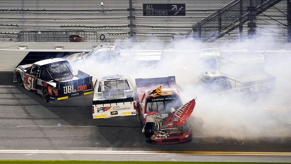 Ben Rhodes wins wild Daytona NASCAR Camping World Truck Series race