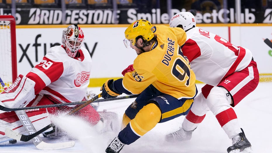 Fabbro's late goal lifts Predators over Red Wings, 3-2