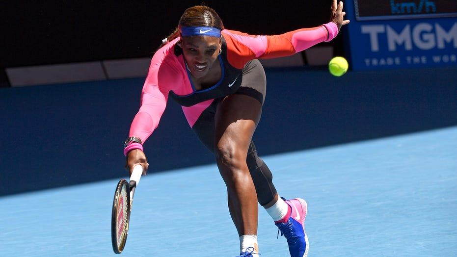 Australian Open: No-look shot in Serena's win; COVID fan ban