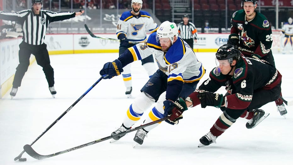 Faulk scores twice, Blues beat Coyotes 4-1 in unique series