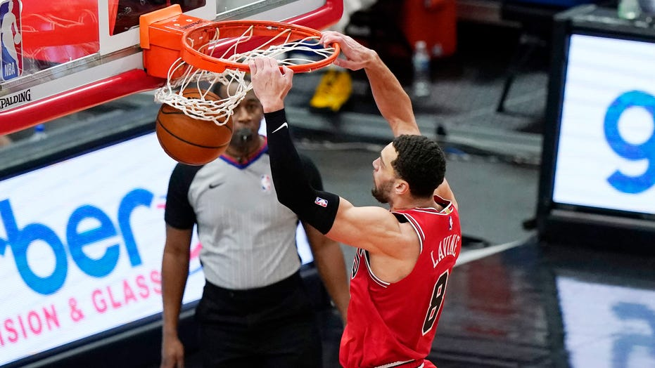 LaVine leads Bulls over Pistons in newly scheduled game