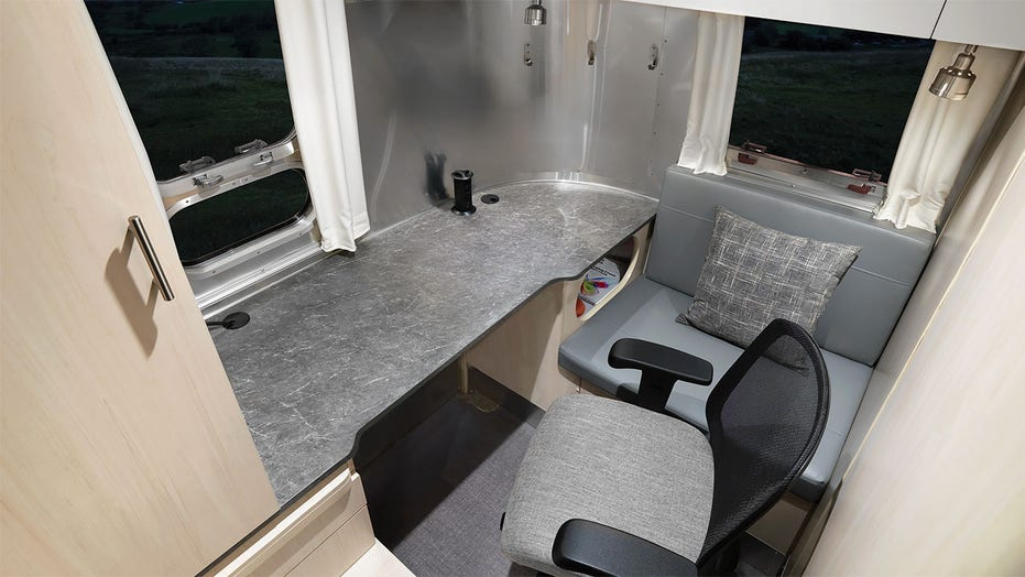 Airstream designs newest model, a mobile office, with remote workers in mind