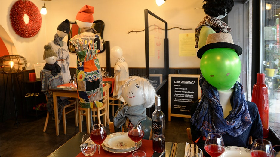 Belgian restaurant owner serves mannequins to protest coronavirus restrictions: report