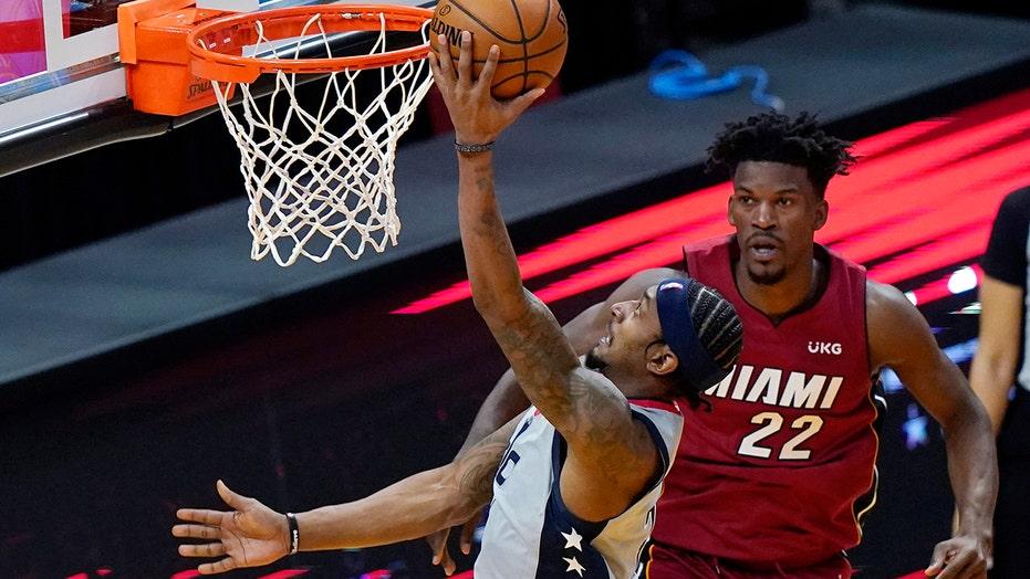 Beal scores 32, Wizards top reeling Heat 103-100
