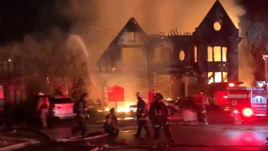 Massive fire engulfs home near DC's Embassy Row; firefighter hurt