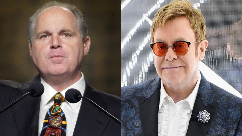 Rush Limbaugh had an unlikely friendship with Elton John, who performed at his 2010 wedding