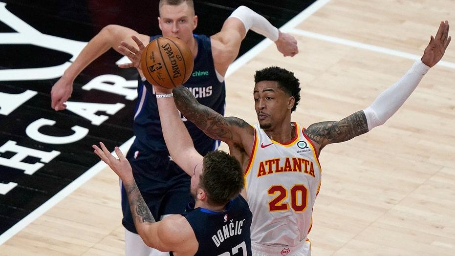 Doncic, Mavericks snap 6-game skid, hold off Hawks 122-116