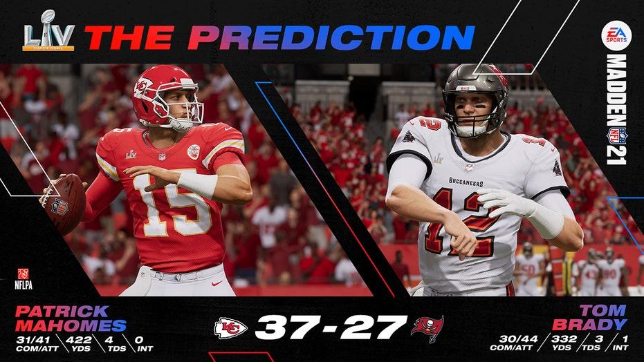 'Madden 21' predicts Super Bowl LV winner between Chiefs, Bucs