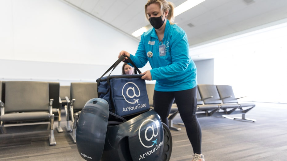 Philadelphia airport offers robot food delivery to travelers