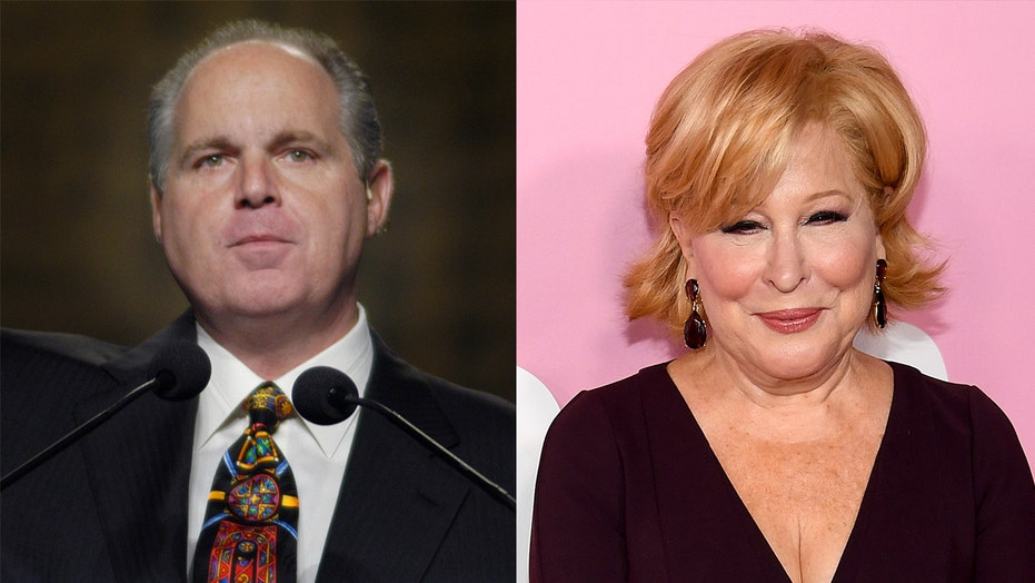 Bette Midler mocks Rush Limbaugh with KKK comparison less than a week after his death