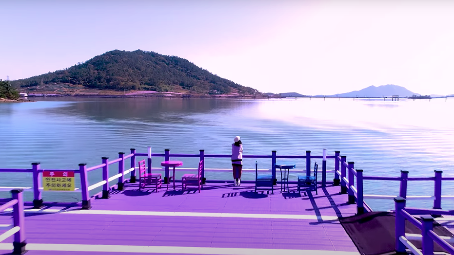 South Korea's Banwol Island draws more tourists after going purple