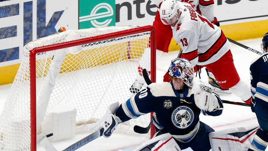 Hurricanes get goals from 6 players to beat Blue Jackets