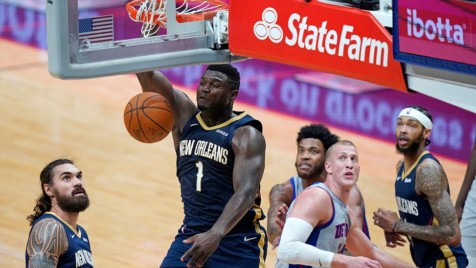 Zion Williamson leads Pelicans past Pistons, 128-118