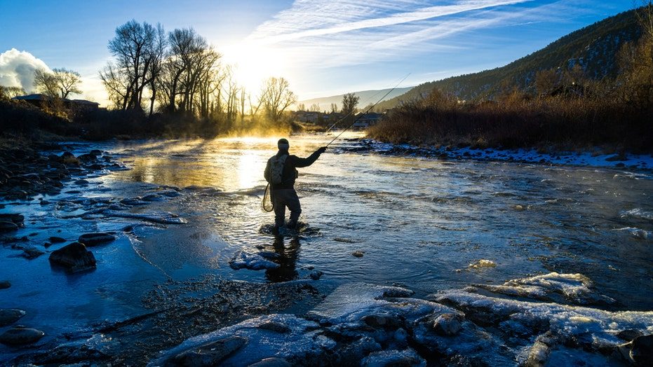 Colorado fly fisherman rides ice down river in TikTok video