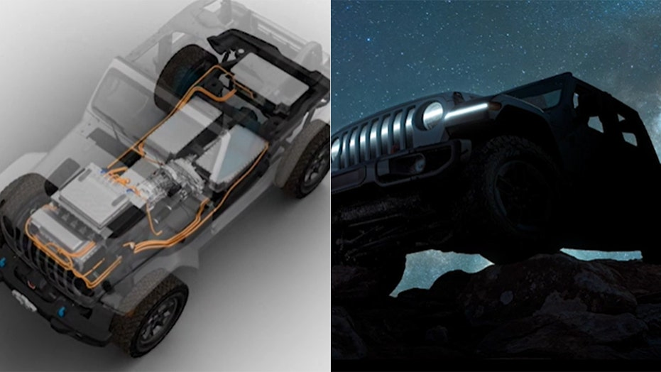 Electric Jeep Wrangler, solar charging station revealed for Easter off-road event