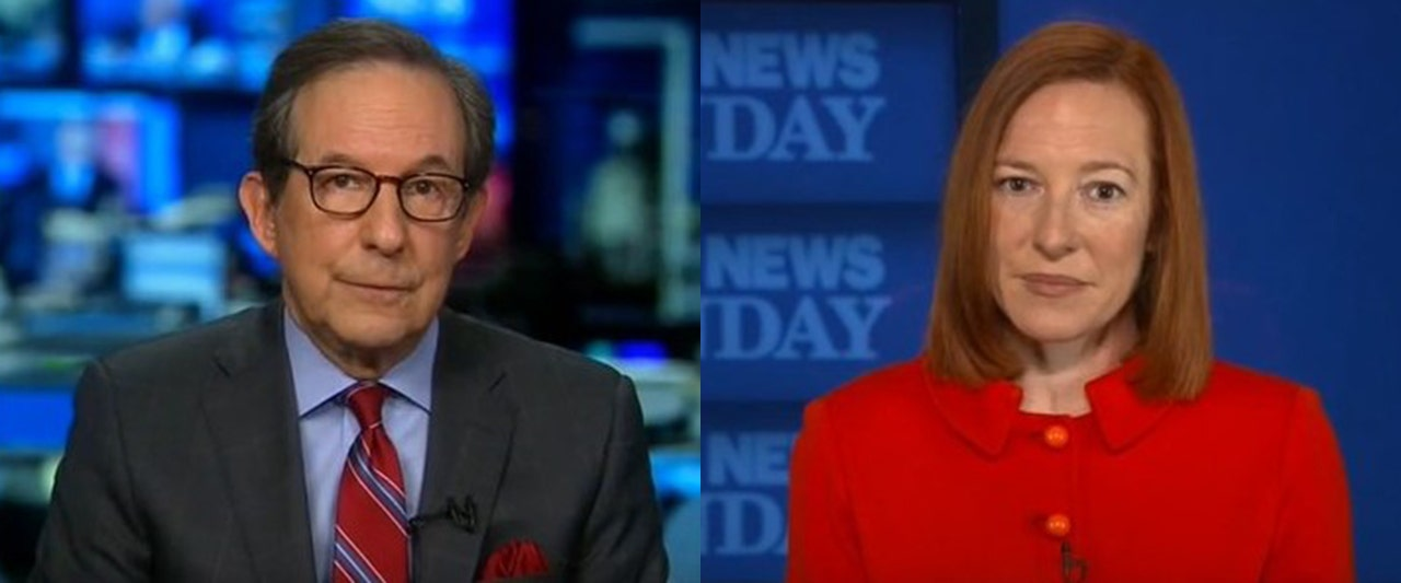 Chris Wallace rips Psaki for not allowing reporters at the southern border and he doesn't stop there