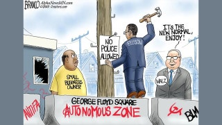 Political cartoon of the day: No police allowed