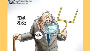 Political cartoon of the day:  Fauci moves the goalposts yet again