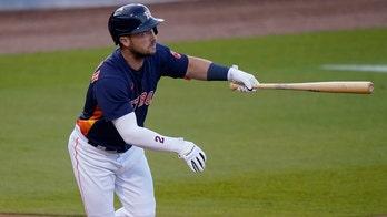 Astros' Alex Bregman tormented while at bat during spring training game