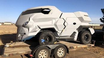 Judge Dredd's futuristic monster movie truck is for sale