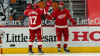 Red Wings score 3 in 3rd period to surge past Jackets 4-1