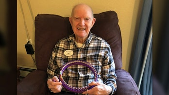 WWII vet knits wool hats during COVID-19 pandemic for Salvation Army