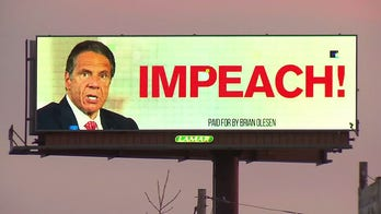Cuomo targeted with 'resign now!' billboard amid dueling scandals