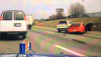 Stolen Dodge Charger wrecks at 120 mph on camera while fleeing police