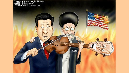 Political cartoon of the day: Playing Biden like a violin
