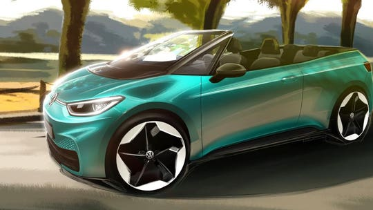 Electric Volkswagen convertible design could become rebooted Cabriolet