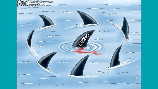 Political cartoon of the day: Dangerous waters