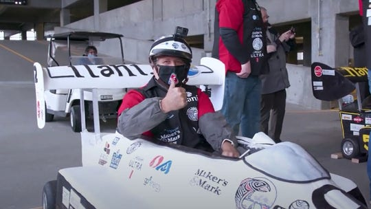 Michael Andretti sets world speed record ... in car made of cake