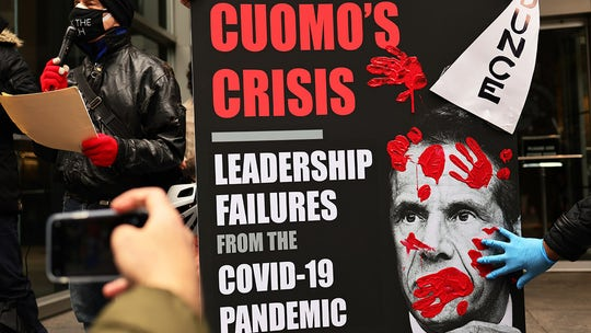 Families of NY nursing home victims demand Cuomo forfeit money from book deal: 'Based on a lie'