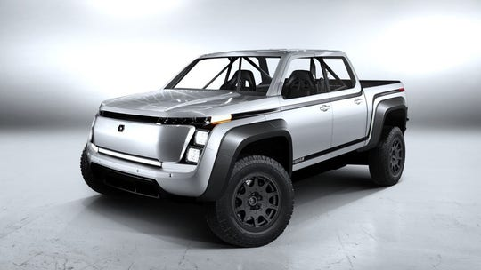 Lordstown Endurance electric pickup entering San Felipe 250 off-road race