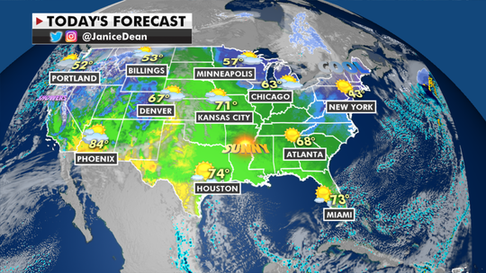 National forecast: Temperatures in Midwest, Plains to rise up to 25 degrees above average